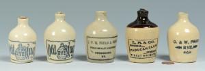 Lot 151: 5 Miniature KY Whiskey Jugs
