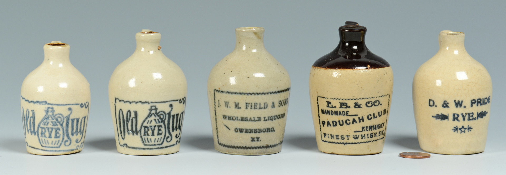 Lot 151: 5 Miniature KY Whiskey Jugs