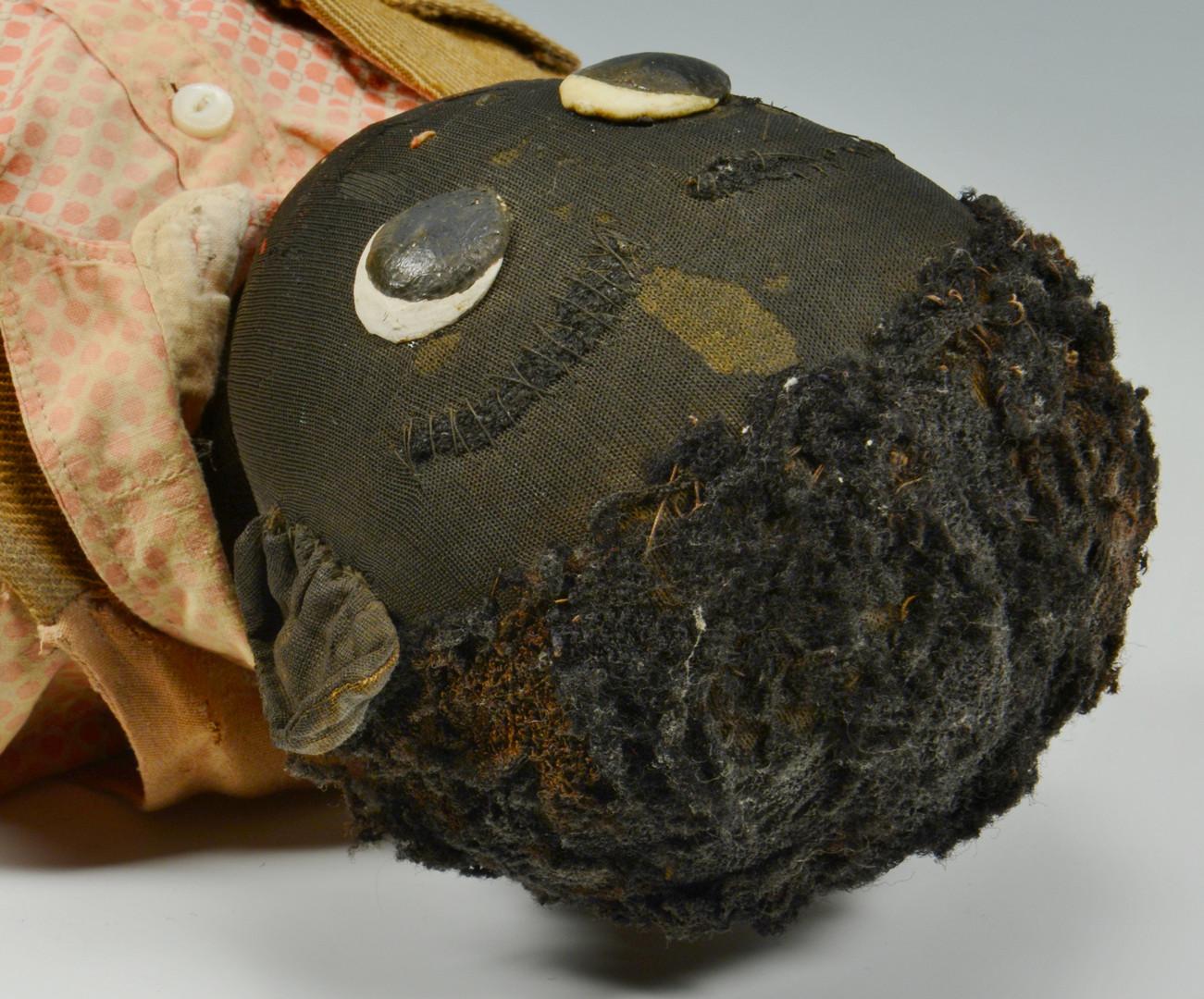 Lot 159: Pr. of 19th Cent. Handmade Black Dolls