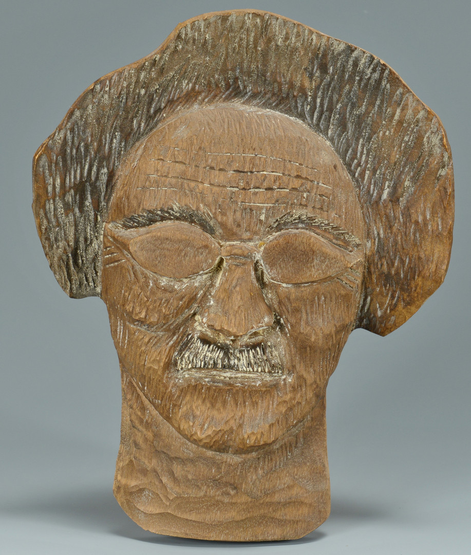 Lot 160: 3 Clarence Stringfield Carvings
