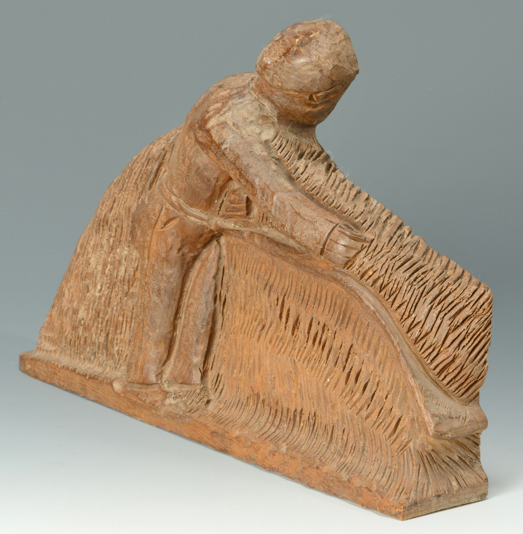 """Lot 161: Clarence Stringfield """"Reaper"""" Carving"""