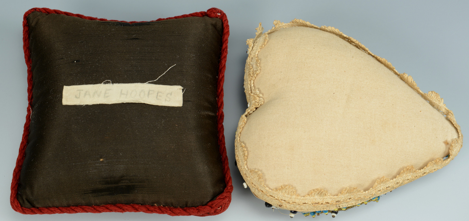 Lot 162: 8 Sewing Articles inc. figurals, pin cushions