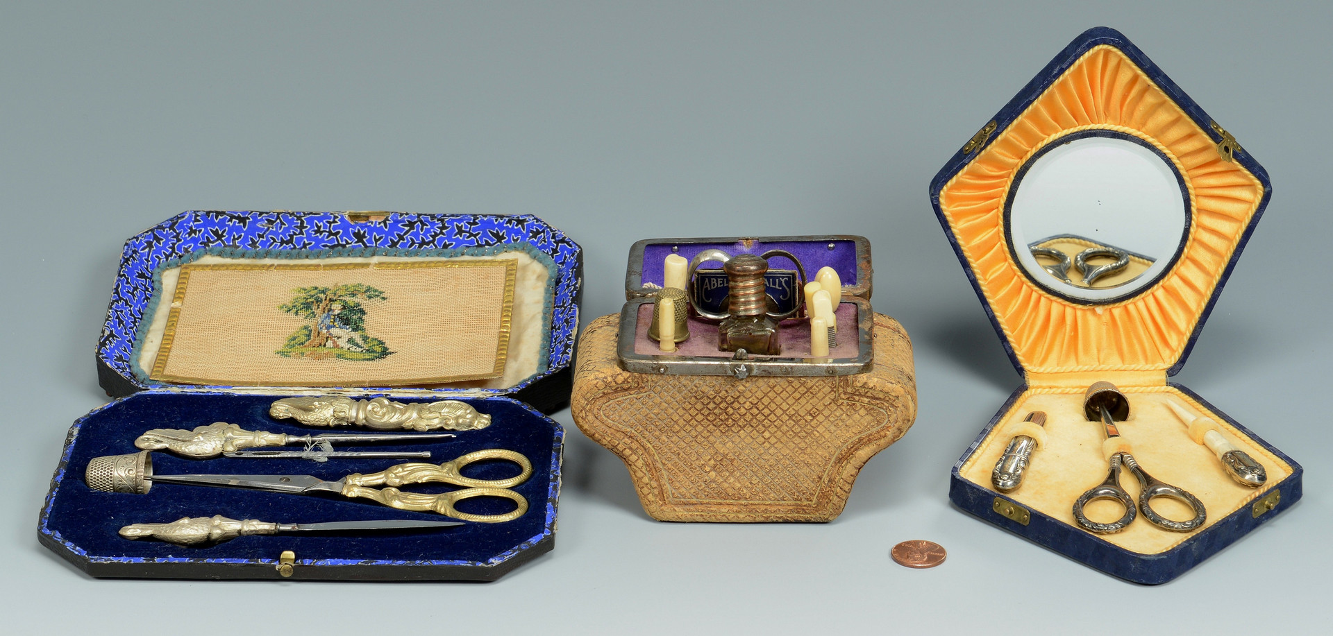 Lot 163: 3 Sewing Necessaires