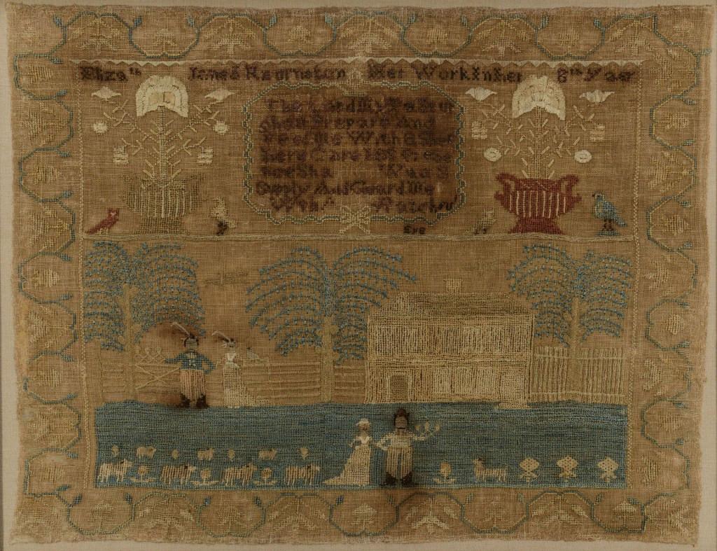 Lot 170: Pennsylvania pictorial Sampler circa 1815