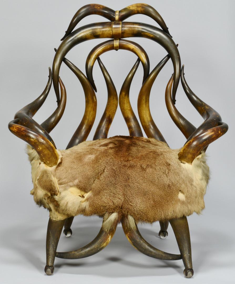 Lot 172: Texas Horn Chair attrib. Charles Puppe