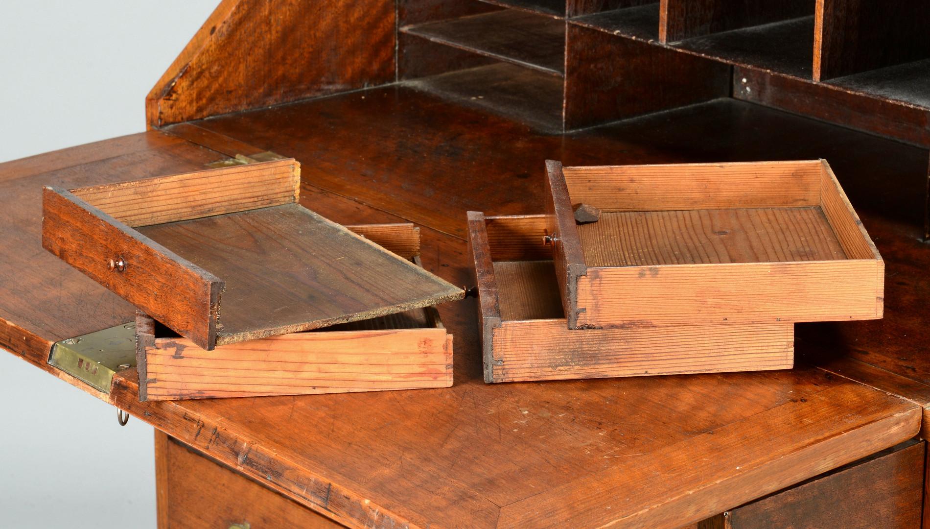 Lot 173: TN Chippendale Walnut Slant Front Desk