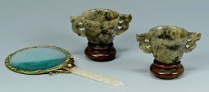 Lot 17: 3 Chinese Jade items