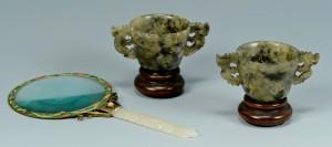 Lot 17: 3 Chinese Jade items