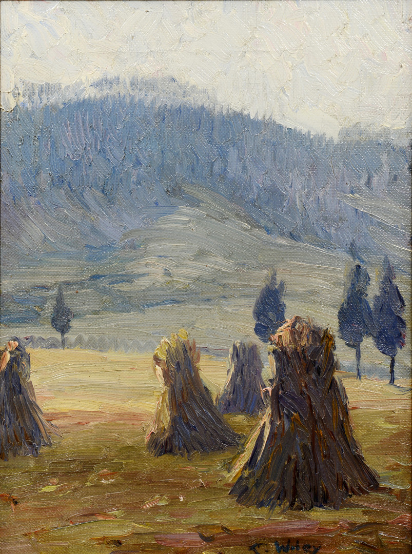 Lot 181: Catherine Wiley, O/C Mountain Landscape