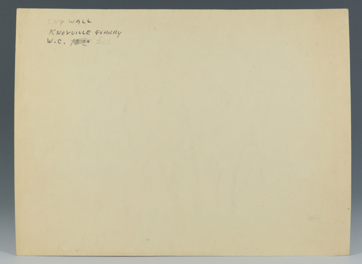 Lot 184: Carl Sublett W/C, Knoxville Quarry