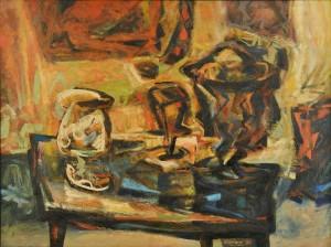 Lot 186: Charles Kermit Ewing Abstract Still Life