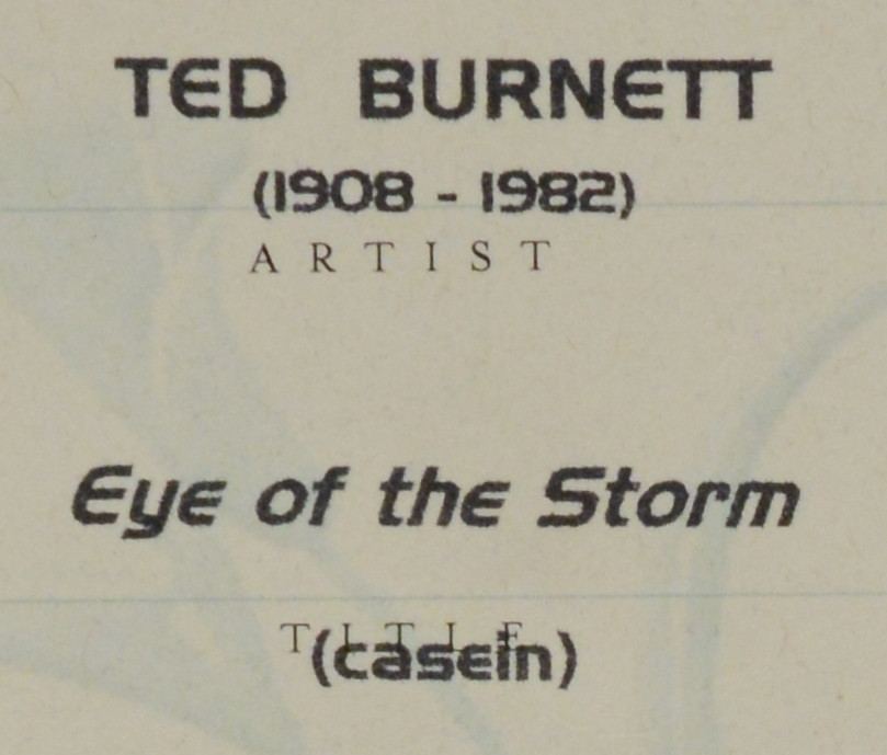 Lot 187: Ted Burnett Abstract, Eye of the Storm