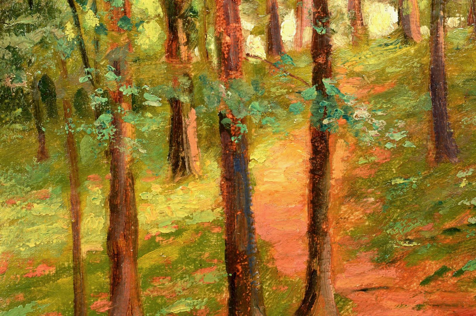 Lot 192: Cornelius Hankins o/b, wooded landscape, likely TN