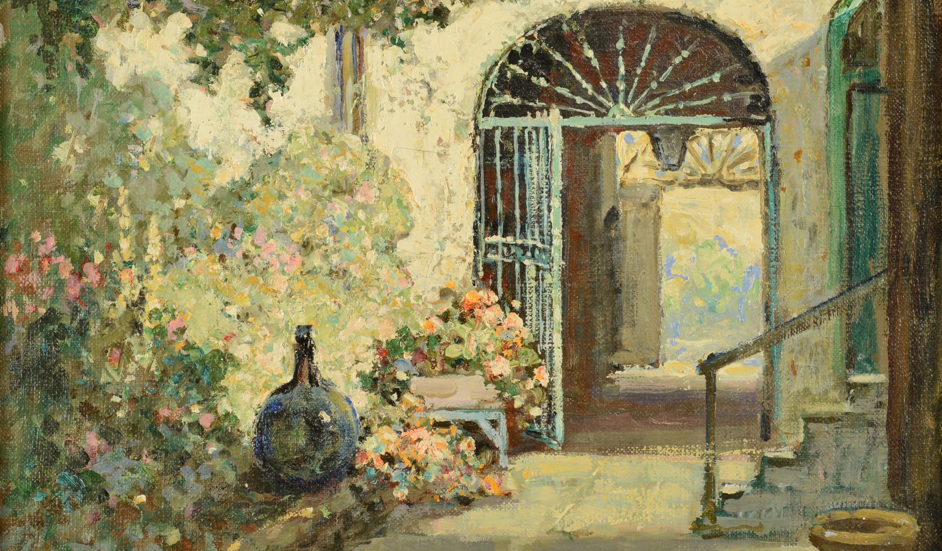 Lot 197: Abbott Fuller Graves, New Orleans Courtyard