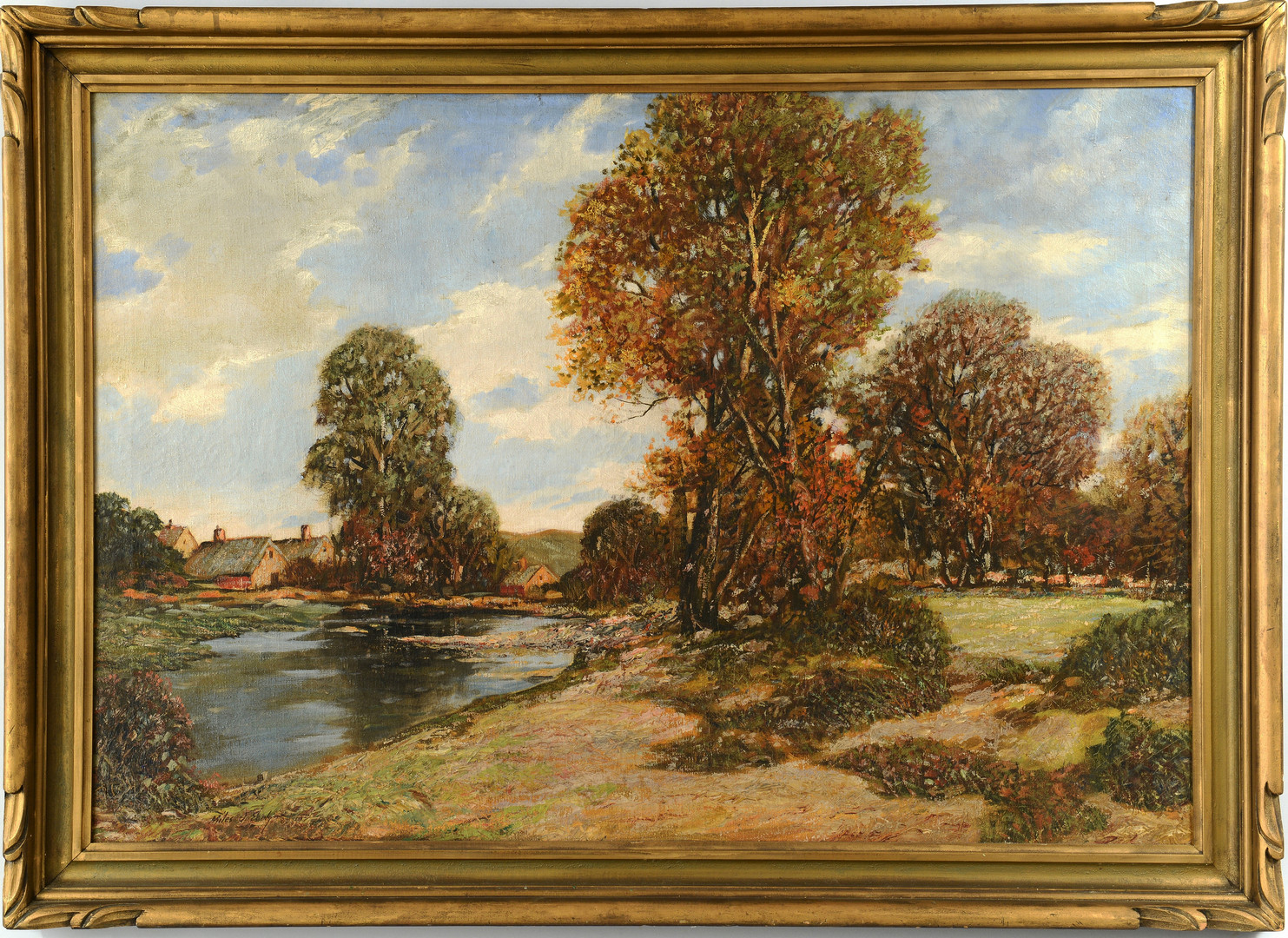Lot 198: Miles Early Oil on Canvas Landscape