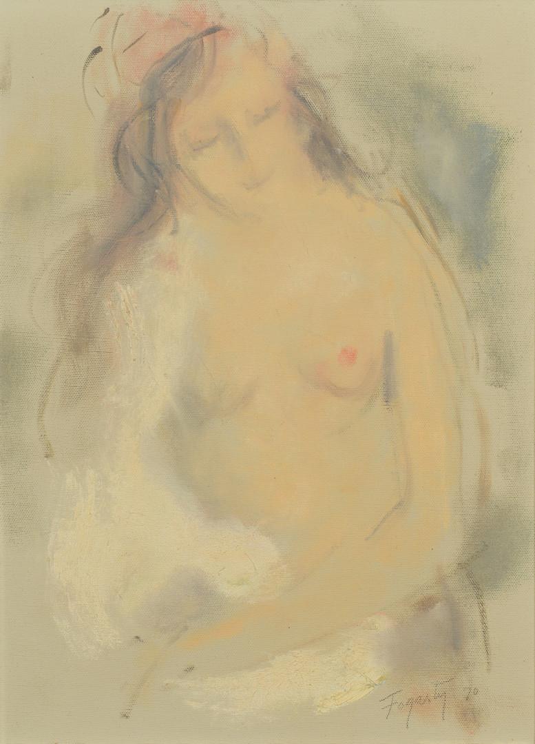 Lot 203: Thomas Fogarty, Jr o/c, Nude