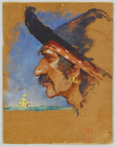 Lot 207: Norman Rockwell oil, Pirate Study