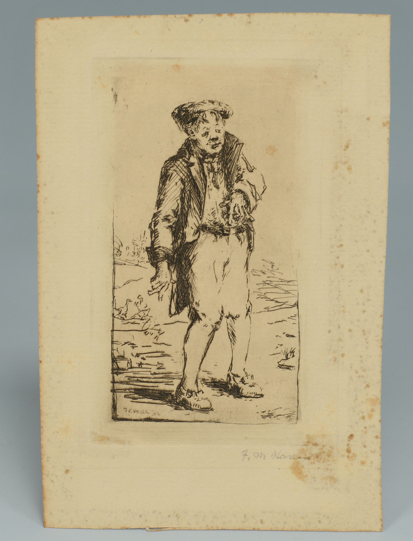 Lot 213: Six (6) Frederick Harer Etchings