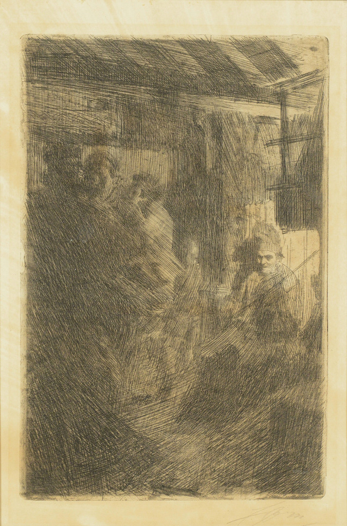Lot 214: Anders Zorn Etching, Dance at Gopsmor, 1906