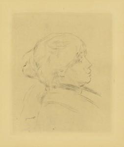 Lot 215: Renoir Etching of Berthe Morisot