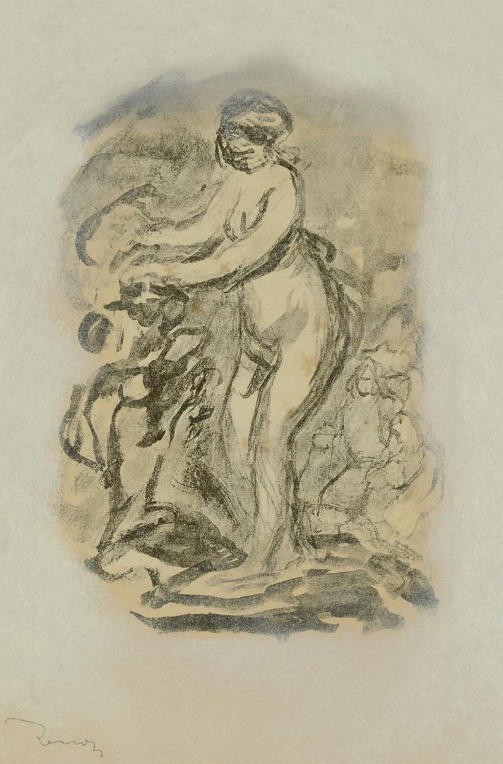 Lot 216: Renoir lithograph, Femme Au Cep De Vigne, Vollard