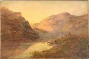 Lot 223: Alfred de Breanski Sr. o/c, Valley of Bealach-Namb