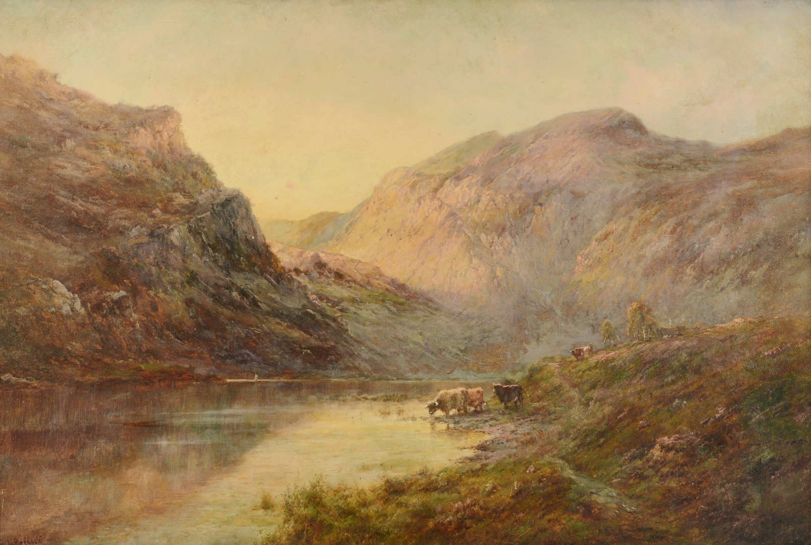 Lot 223: Alfred de Breanski Sr. o/c, Valley of Bealach-Namb