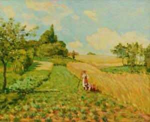 Lot 225: Malva oil on canvas landscape