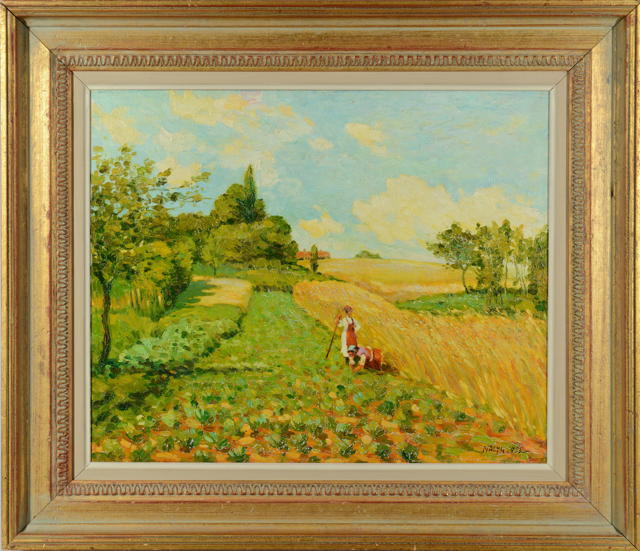 Lot 225: Malva oil on canvas landscape