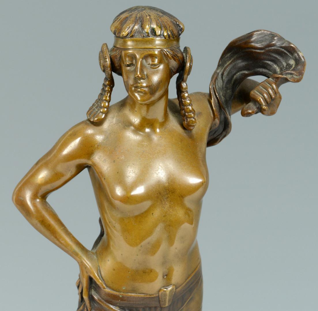 Lot 227: V. Seifert Bronze, Egyptian Nude