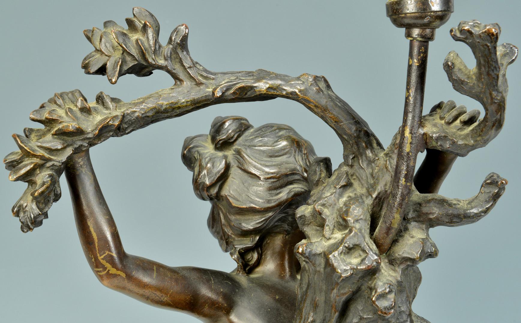 Lot 228: A. Croisy Bronze Figural Lamp