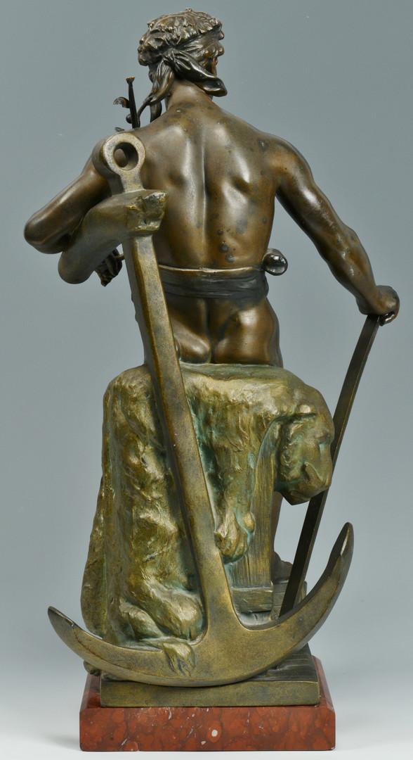 """Lot 229: Ernest Ferrand Bronze """"Le Commerce"""""""
