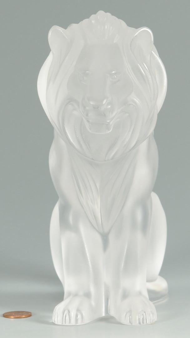"Lot 238: Lalique Crystal ""Bamara"" Lion"