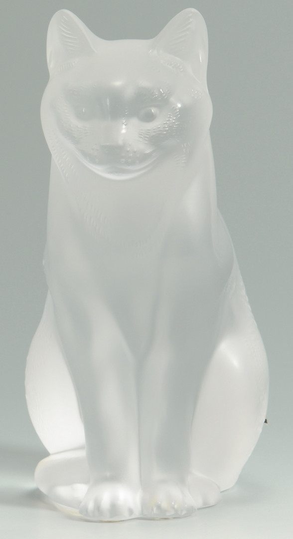 Lot 239: Lalique Crystal Seated Cat