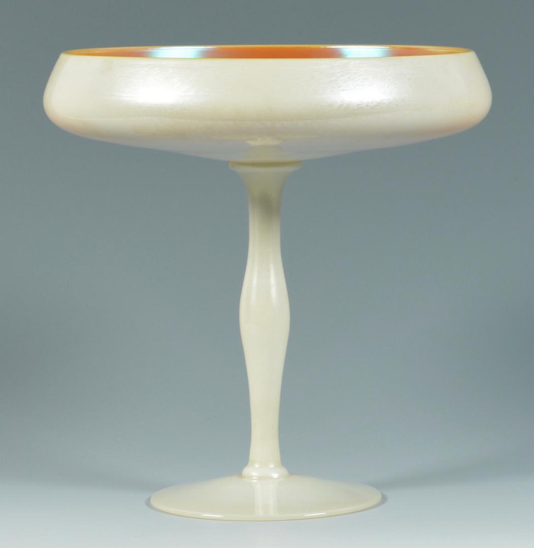 Lot 241: 2 Steuben Art Glass compotes (3 pcs)
