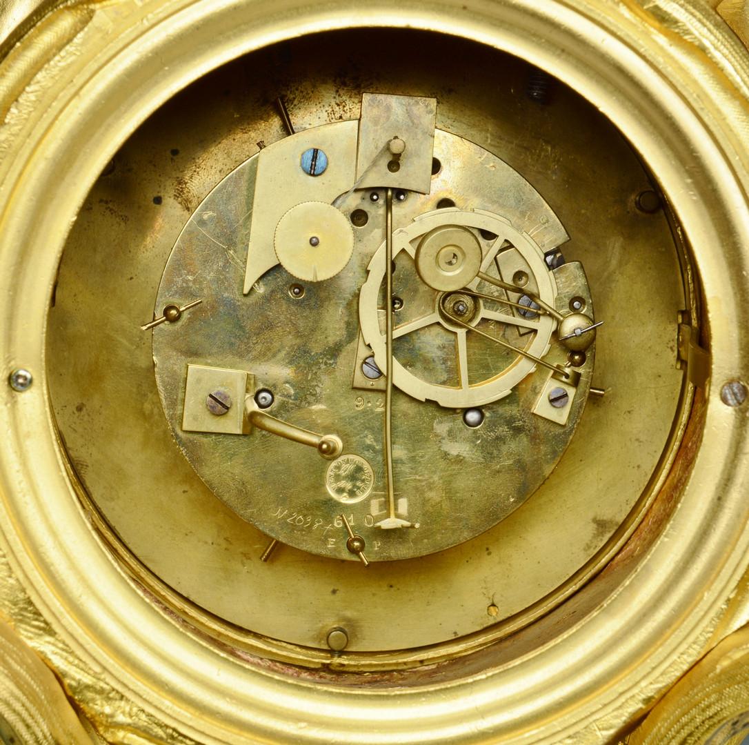 Lot 245: Gilt Bronze French Clock, Marti