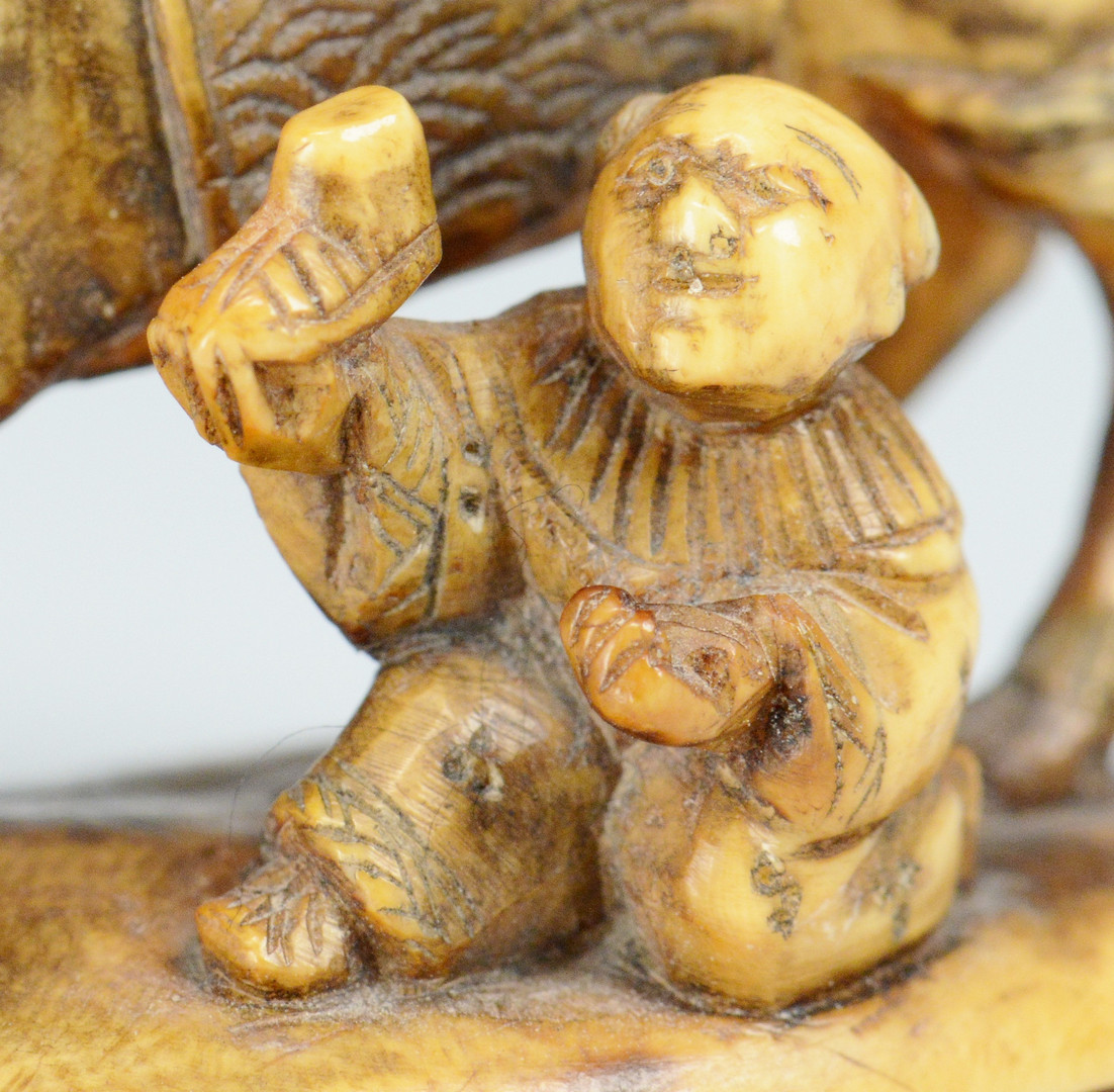 Lot 251: 3 Signed Asian Ivory Carvings
