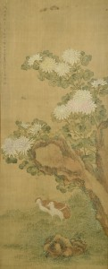 Lot 25: Chinese Scroll of Quail, Qing