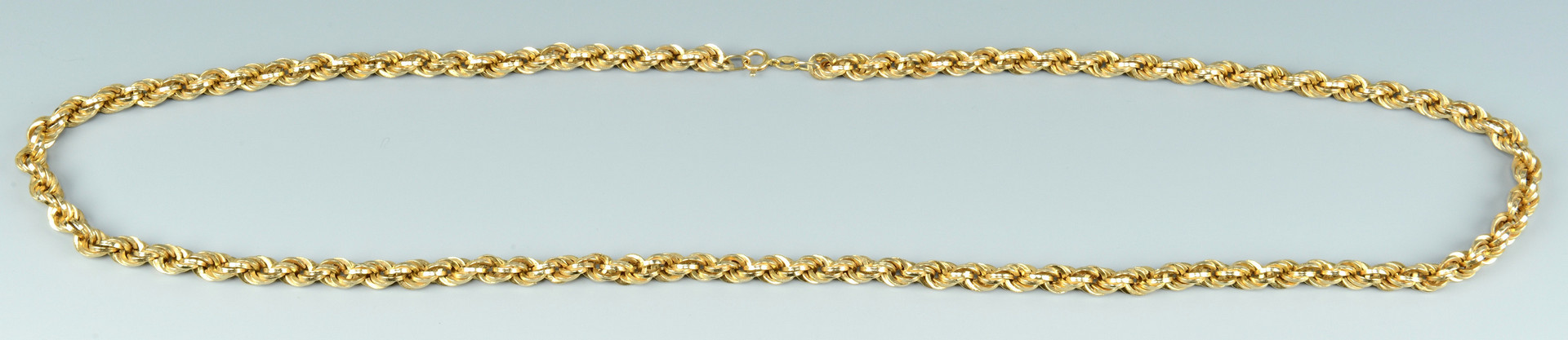 Lot 262: 14k Gold Rope Chain, 38.5 grams