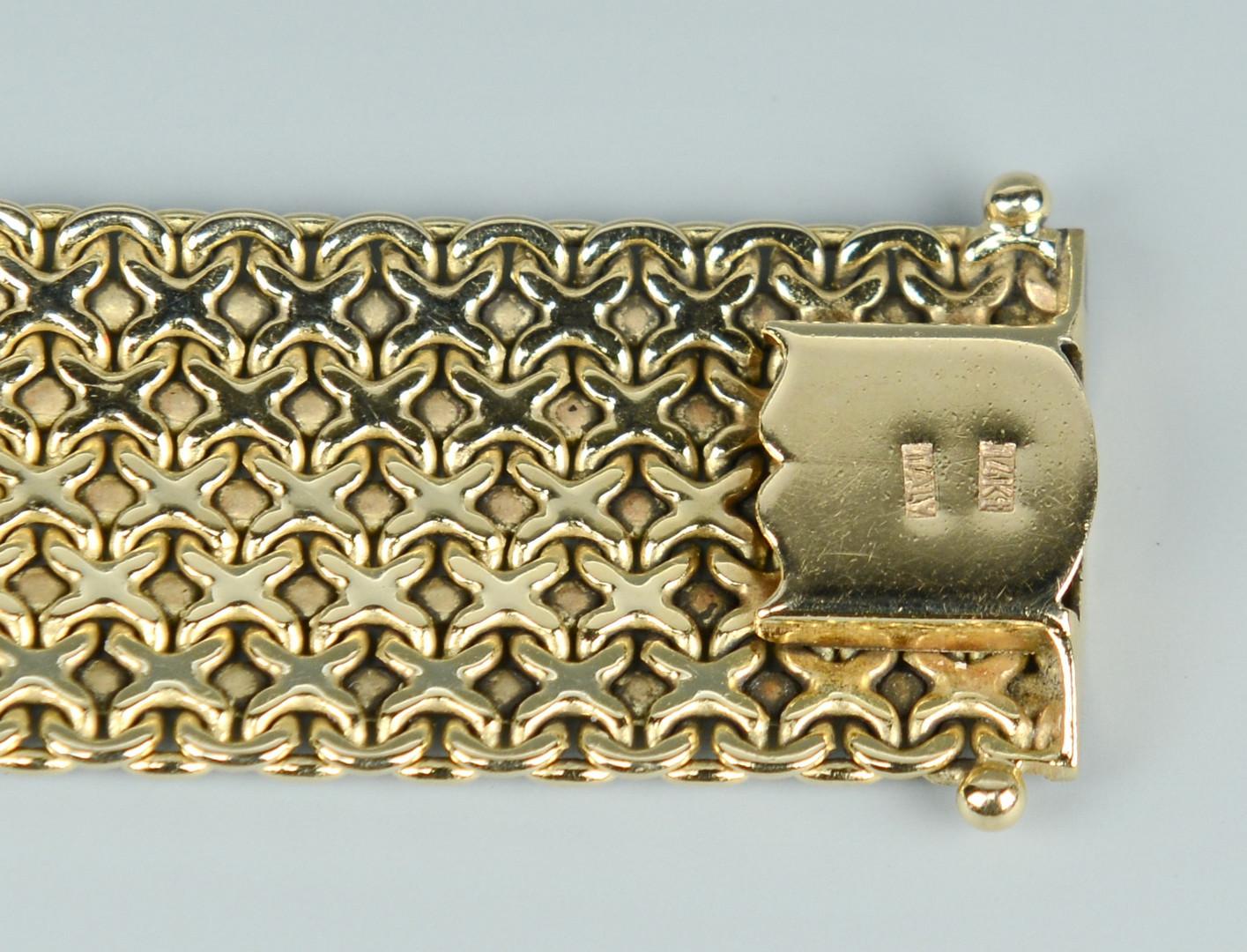 Lot 263: Italian 14k Mesh Link Bracelet