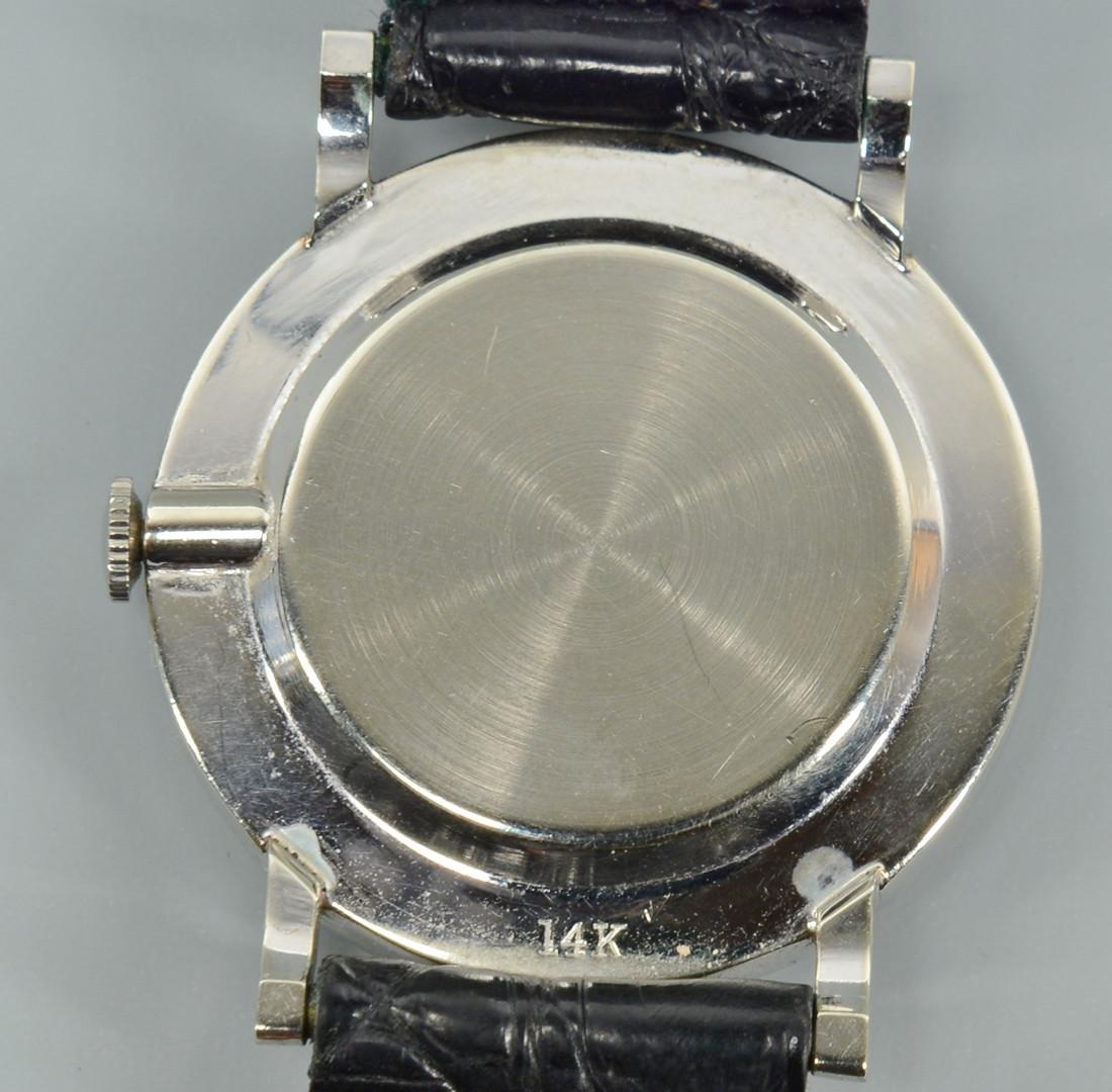 Lot 270: Men's 14k Hamilton Diamond watch