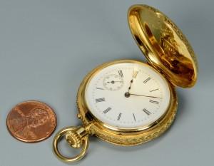 Lot 271: A. Golay Leresche & Fils 18k Pocketwatch