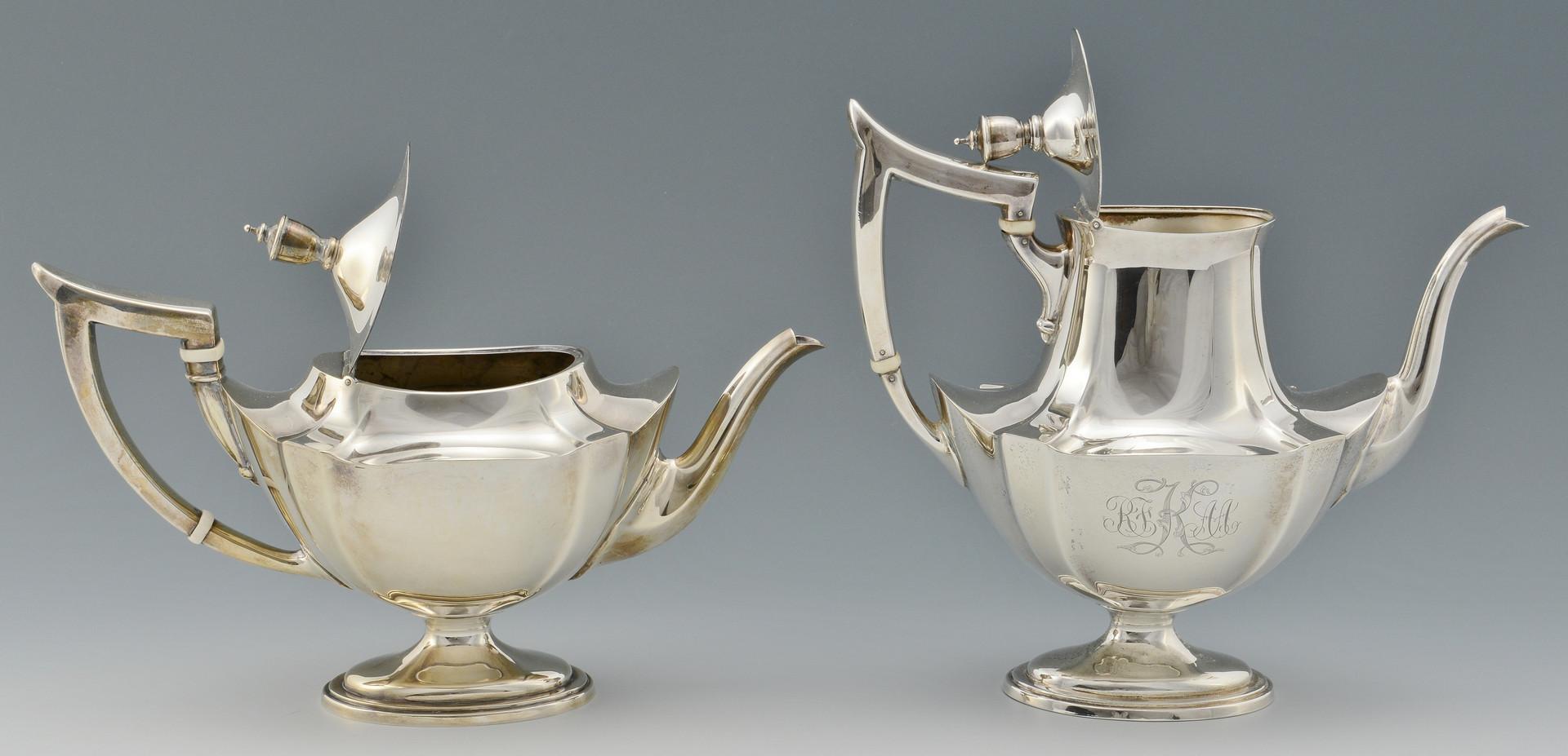 Lot 275: 5 Piece Gorham Tea Set incl. Tray