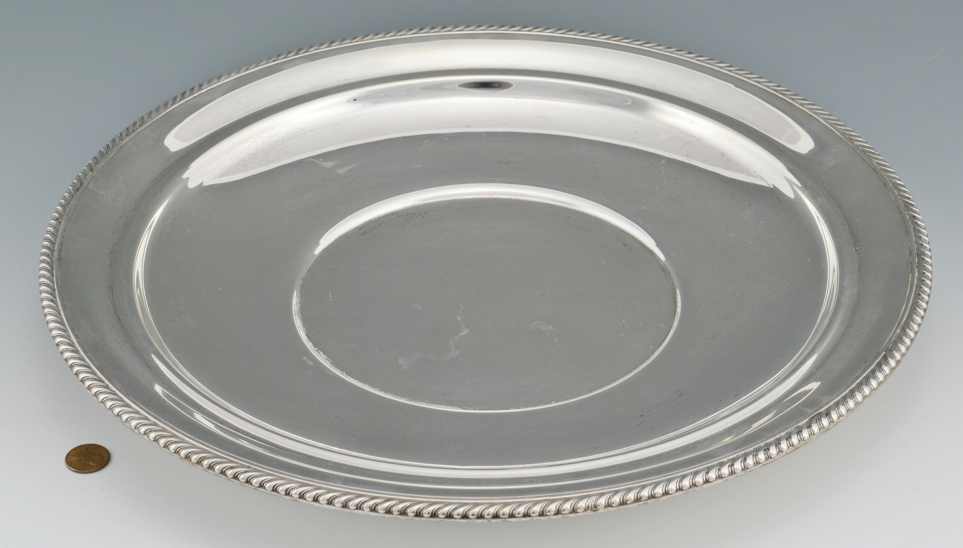Lot 277: Large Gorham Sterling Platter