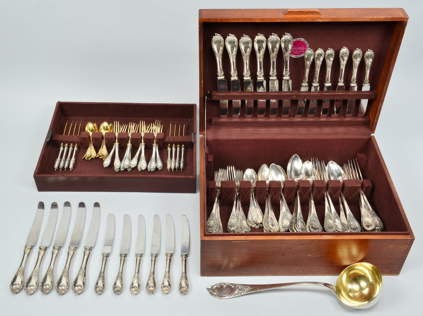 Lot 279: Large set German silver flatware