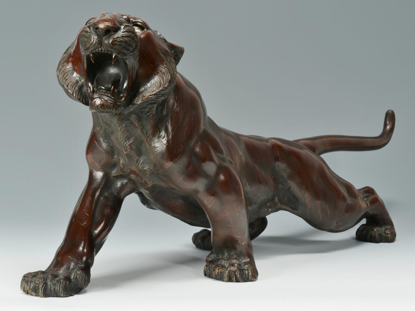 Lot 27: Japanese Bronze Tiger, Meiji