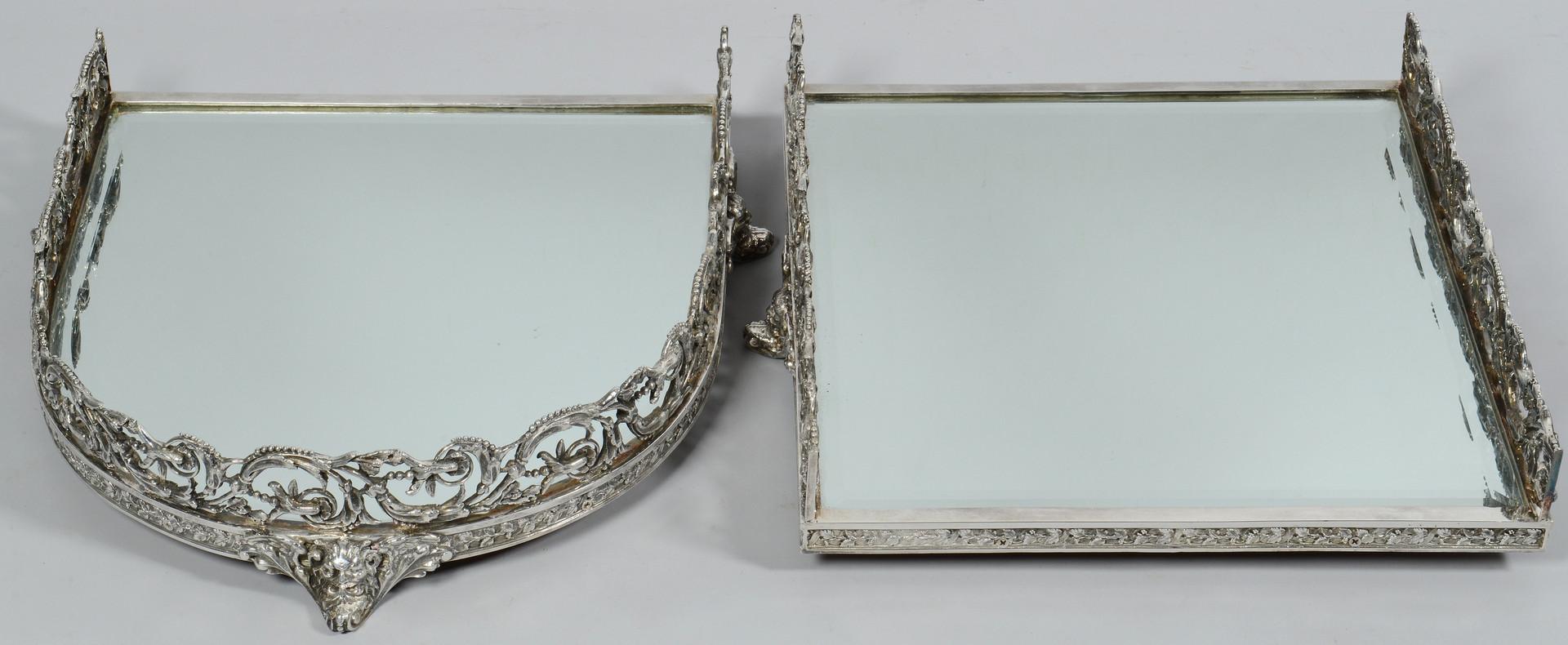Lot 284: 4-piece Silverplated Plateau