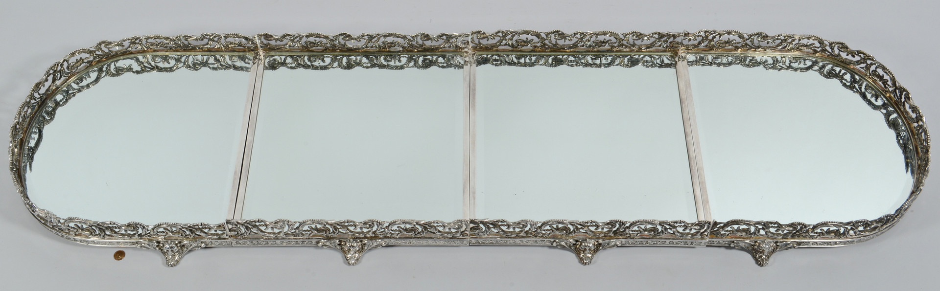 Lot 284: 4-piece Silverplated Plateau