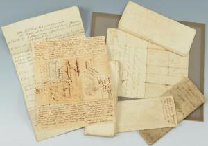 Lot 287: SC document archive, Trezevant Family, late 18th/e