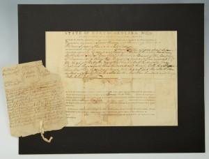 Lot 288: 1790 Nashville TN Land Grant & Survey Map